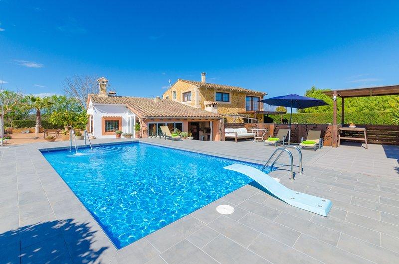 ES RAFAL NOSTRO - Villa for 11 people in FELANITX, vacation rental in Felanitx