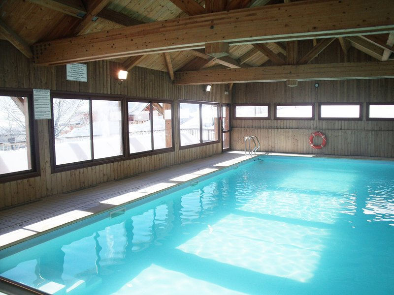 Dive into the lovely indoor pool after a day on the pistes.