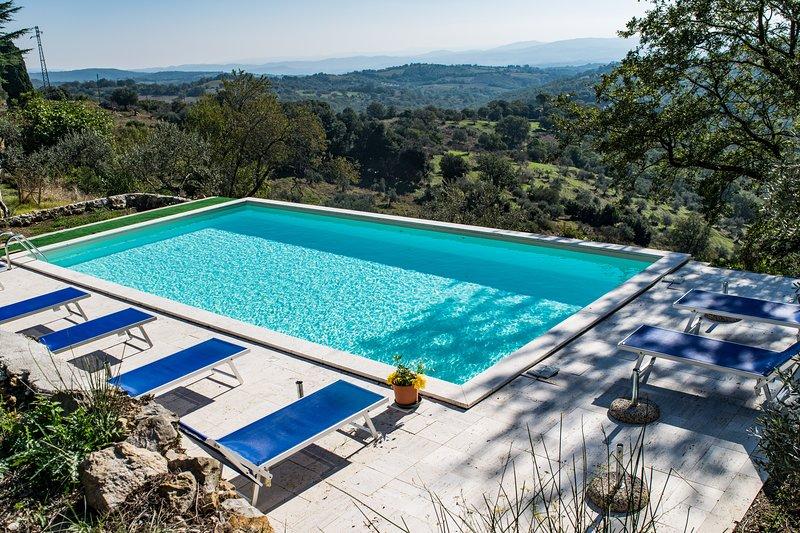 Podere IL LUOGO, Scansano, Appartamento Piano Terra: Piscina, Mare,Terme,Cultura, holiday rental in Montorgiali
