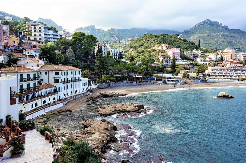 Incredible sea view of Taormina Bay from property's terrace