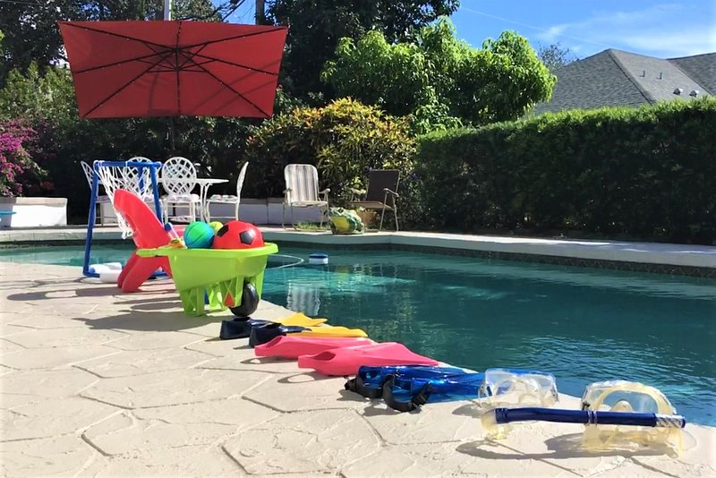 Loads of pool toys for kids and adults!