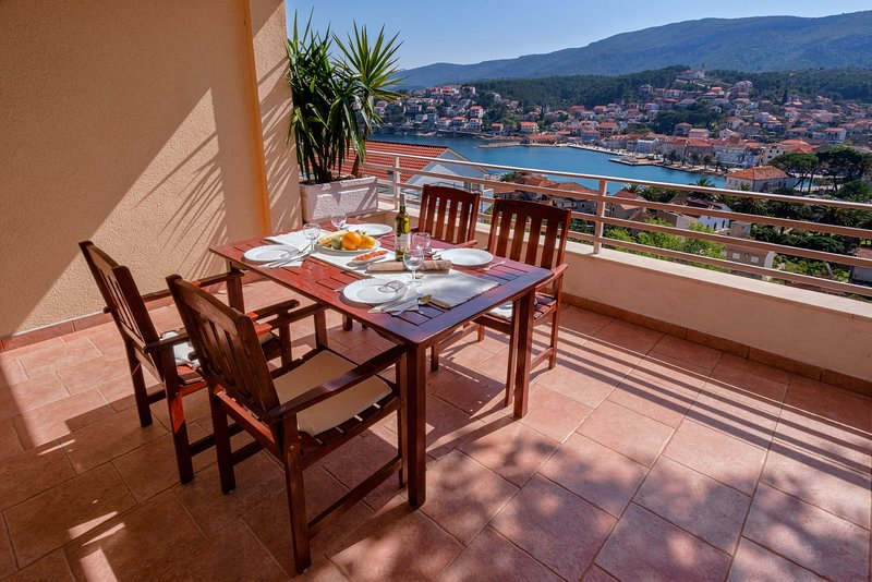 Our big terrace with amazing seaview.