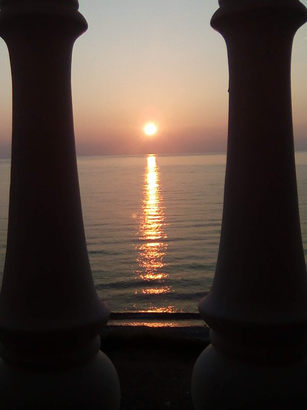 Spectacular Sunrise through the Balustrade