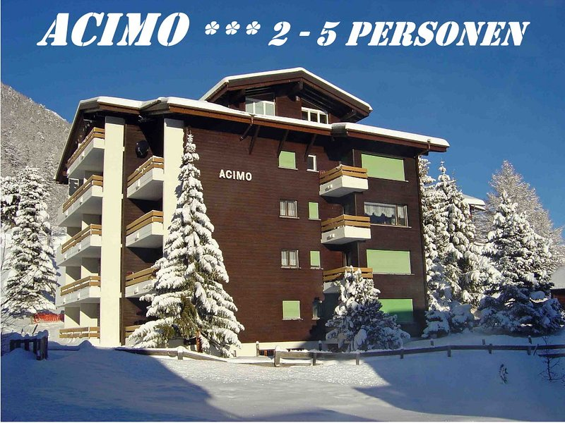ACIMO 2 Silence and Panorama 4-5 Pax Chalet in Saas-Fee