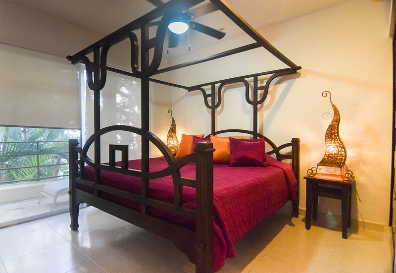 Both bedrooms have king size beds, ample closet space, and a full bathroom, each with shower.