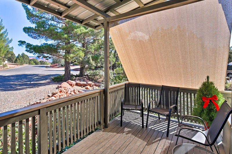 This vacation rental home is nestled in Sedona's Red Rock Country.