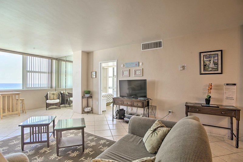 This 2-bedroom, 2-bathroom vacation rental condo offers a rejuvenating stay.