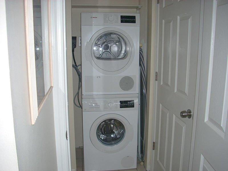Nova lavadora e secadora