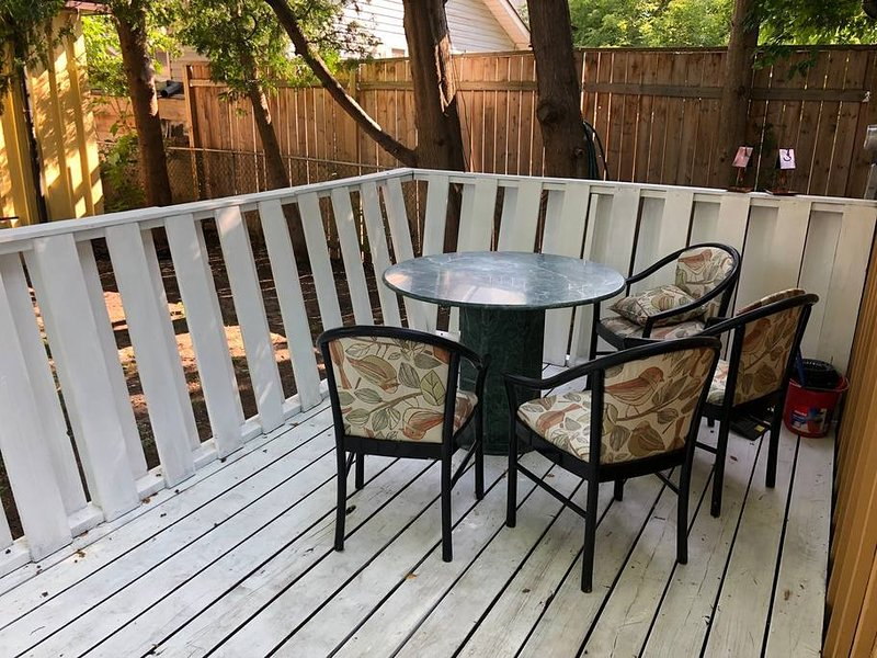 **new comfortable & modern deck furniture has replaced these items