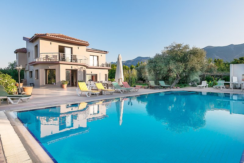 Large Garden, 6x12 Pool, and fruits arohnd the pool, makes the Villa fully Provate.