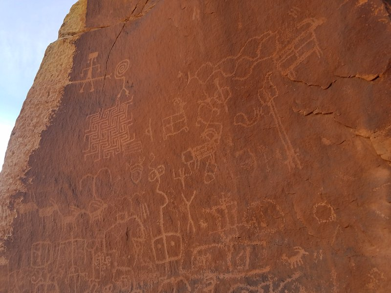 Close to several locations of petroglyphs
