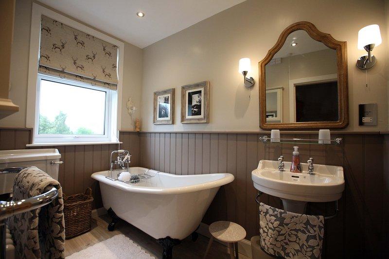 La salle de bain privée a aussi des vues!