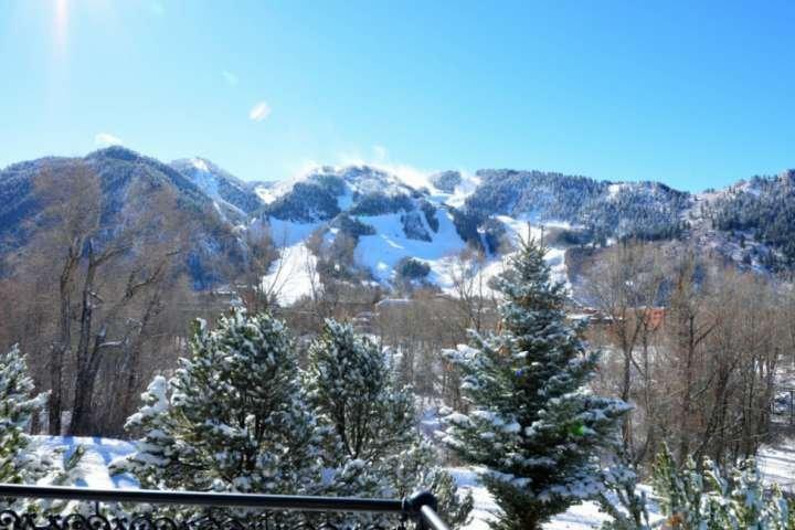 Vous pourrez profiter d'une vue imprenable sur le mont Aspen situé à proximité de l'espace de vie ouvert de cette belle maison.