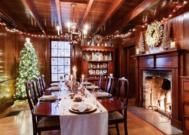 Formal Dining Room During Holidays