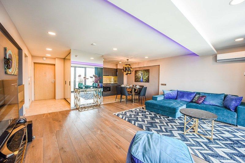 Palanga Sea View appartamenti, appartamento completamente attrezzato, in posizione centrale, splendida vista, soggiorno di qualità.