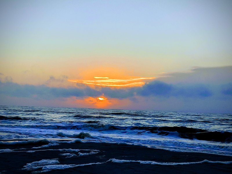 Sunrise on the beach!