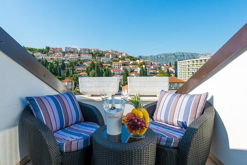 Balcony, outdoor furniture