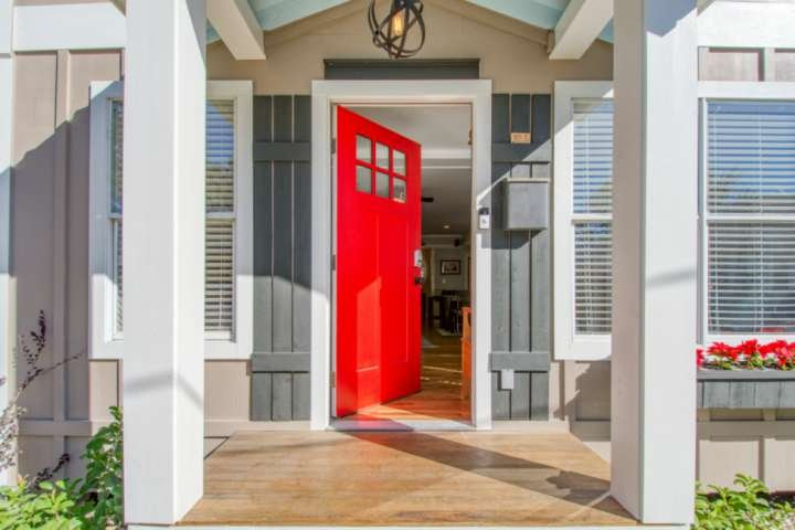 This fresh entryway will welcome you during your stay.
