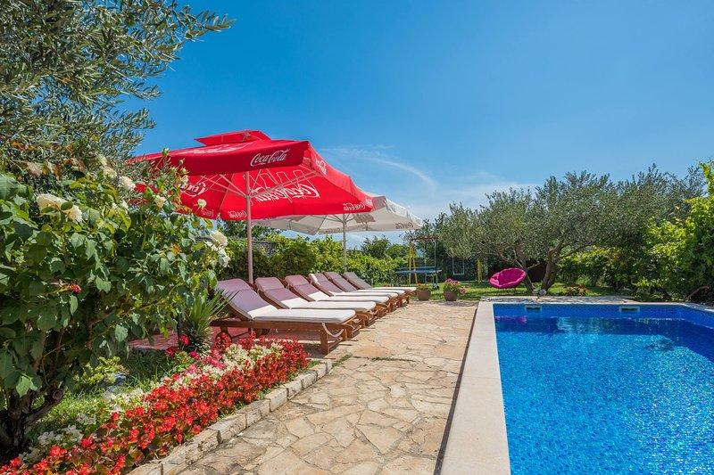 Relax in nature  modern villa, holiday rental in Zadvarje
