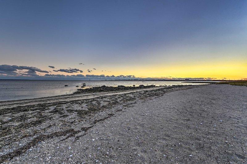 Deze vakantiewoning ligt op slechts 2 minuten lopen van het strand.