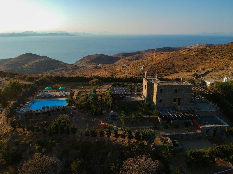 Villa POSEIDON with private pool - Green Island Resort Kea, alquiler vacacional en Ceos