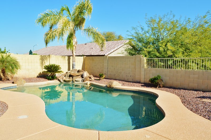 Take advantage of the Arizona sunshine and take a dip in in the sparkling pool.