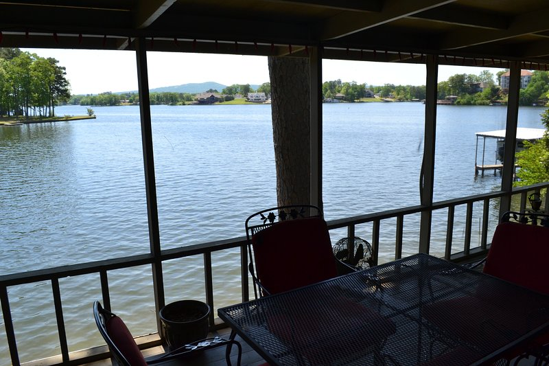 Enjoy this view from your screened in porch right off the kitchen!