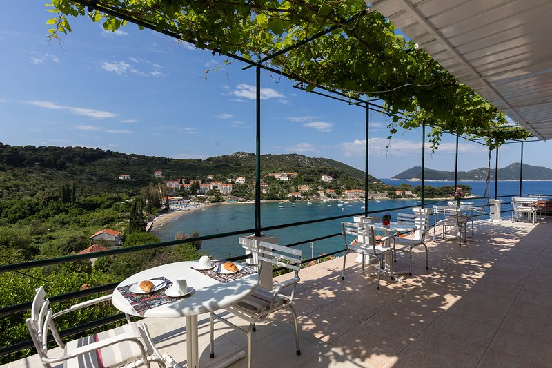 Apartments Miskovic - Studio Apartment with Balcony and Sea View (East), vacation rental in Kolocep Island