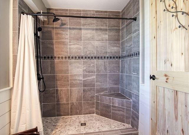 Bella passeggiata nella doccia!