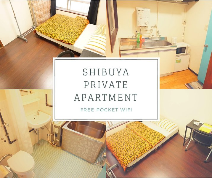 STAY and EXPLORE in Shibuya FREE Pocket WIFI, aluguéis de temporada em Yokohama