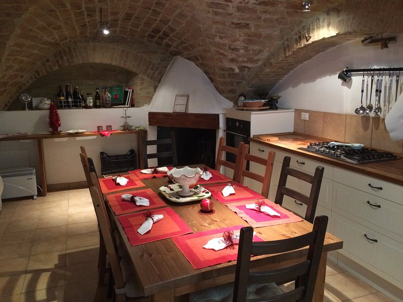 1 Large Kitchen - Dining Room with vaulted ceiling