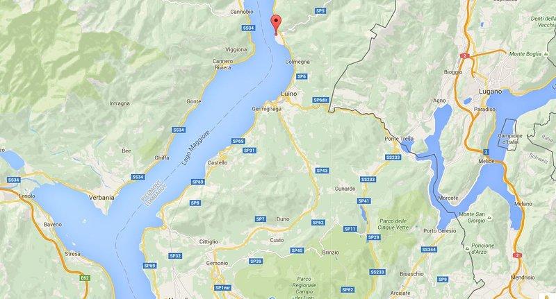 Location on Lake Maggiore