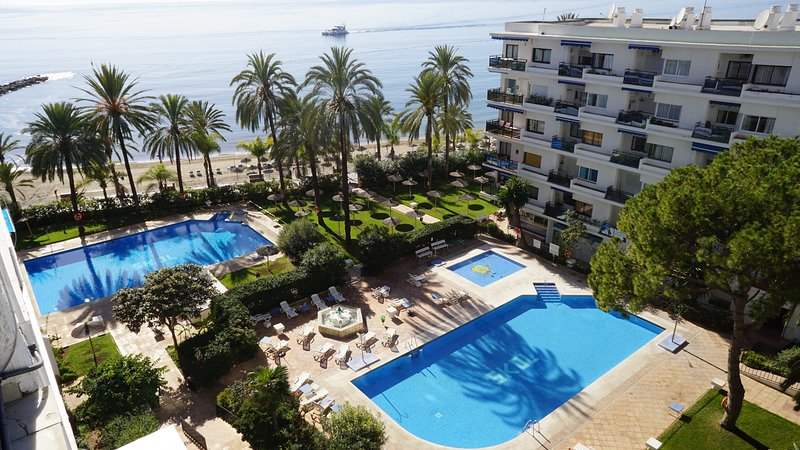 There are three pools at Marbella Skol Complex one of them for children.
