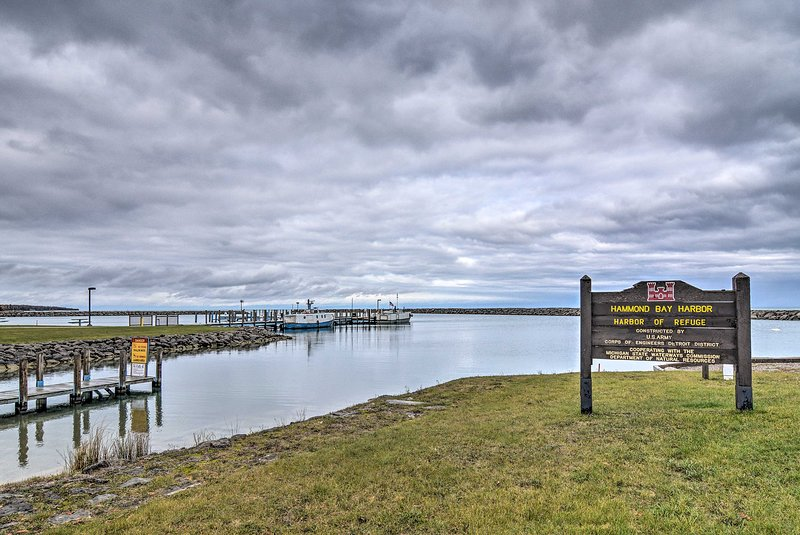 You'll also be walking distance from the boat launch at Hammond Bay Harbor!
