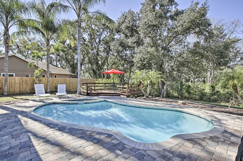 Pet-Friendly Home w/ Fire Pit -  10 Mins to Gulf!, alquiler vacacional en Palm Harbor