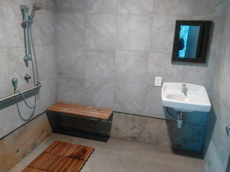 Individual ultra clean locking shower room units