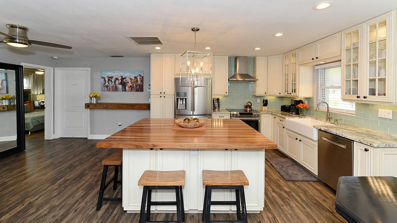 Fantastic kitchen with all new appliances, all new flooring throughout the entire home