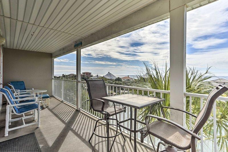 Book your Santa Rosa Beach getaway to this classy 2-bed, 2-bath vacation rental!