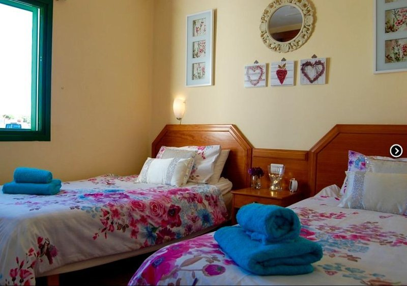 Really comfortable twin beds .The bedroom is really bright and you have a lovely view .