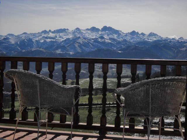 Peaks of Europe from Peña Santa apartment terrace