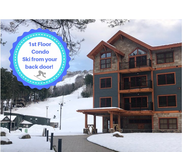 Ski In Ski Out Brand New First Level Condo At Cranmore