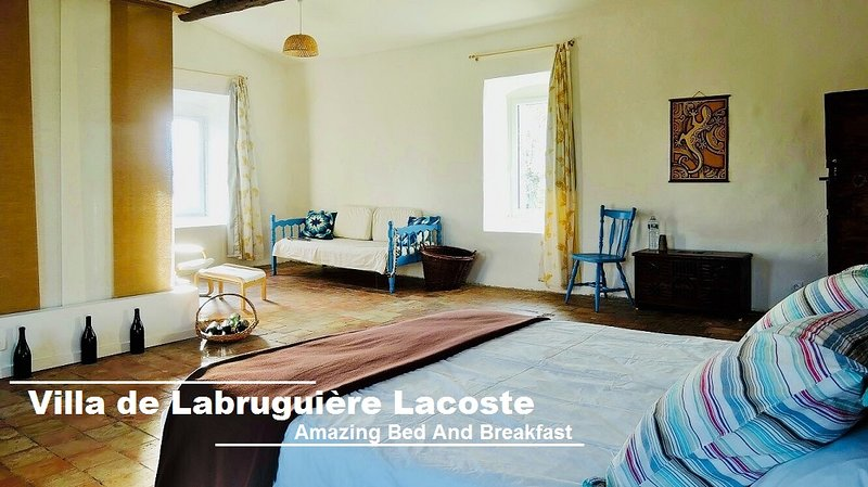 Chambre d'hôtes Attic Room - Villa de Labruguière Lacoste, holiday rental in Lezan