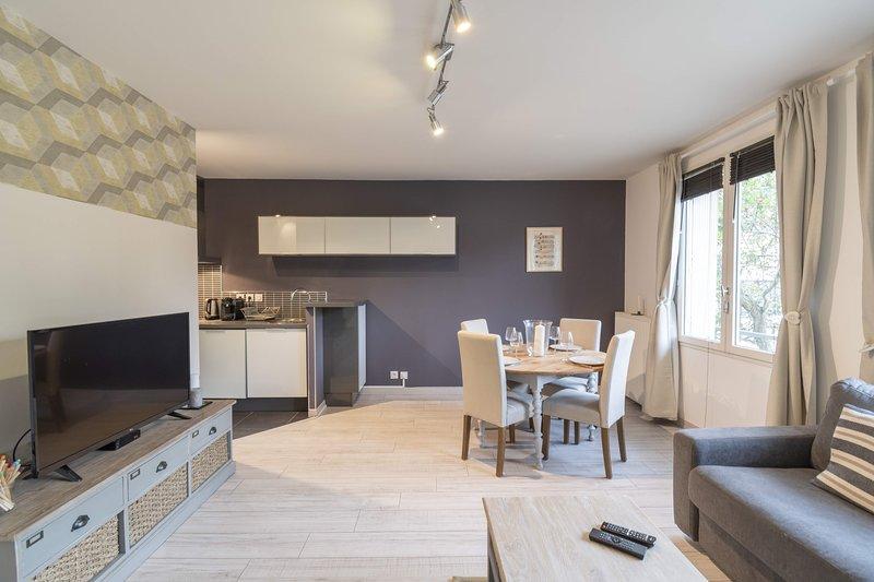 Les Deux Rives - Appartement confortable avec place de parking, holiday rental in Liffre