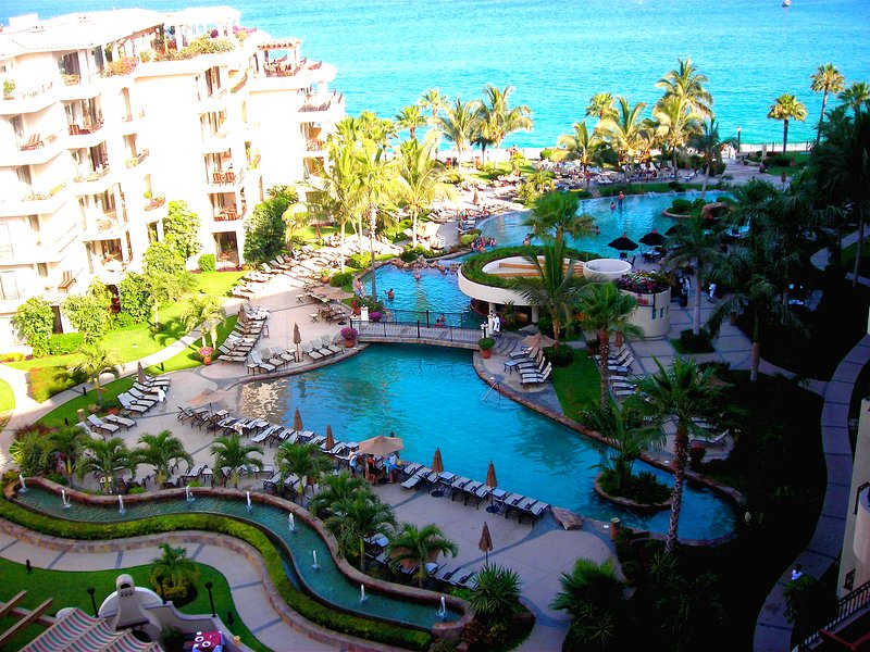 Beautiful views of the pool and Sea of Cortez