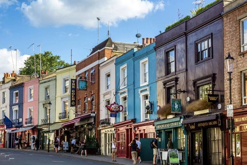 The charming area of Notting Hill Gate.