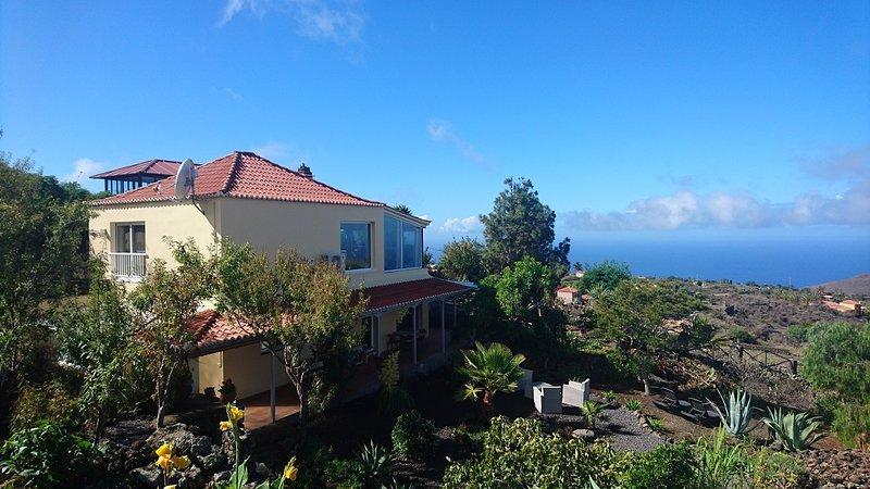Finca Paraiso Arriba - La Palma, luxe vakantiewoning met panoramisch zeezicht, location de vacances à Todoque