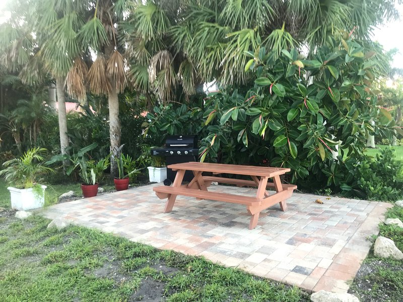 Picnic area with BBQ grille