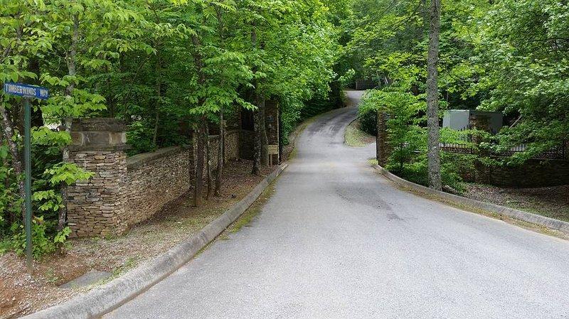 Timberwinds Resort entrance