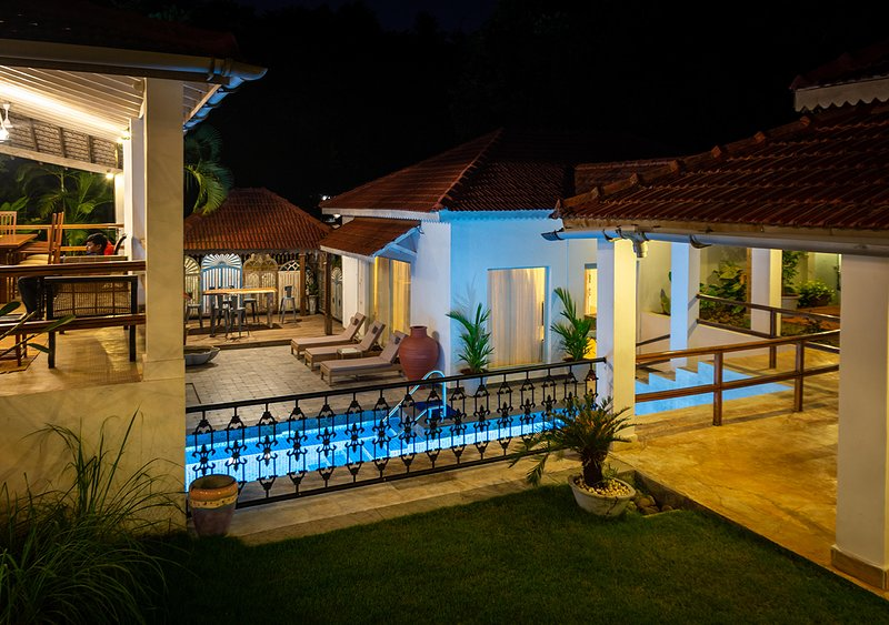 Villa in the evening