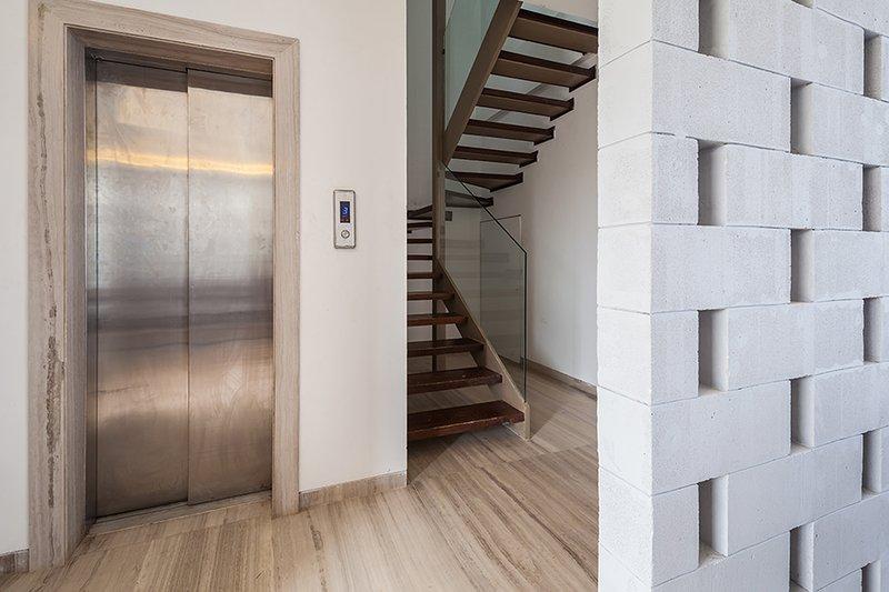 Elevator in the villa